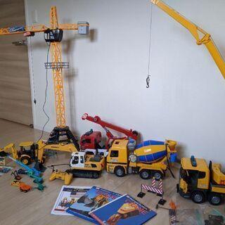 建設現場おもちゃセット ブルーダー、トミカ