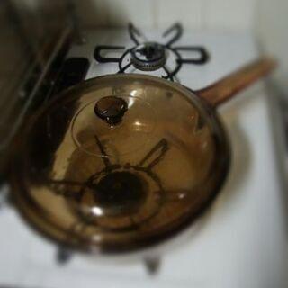 VISIONフランス製耐熱ガラス片手鍋24㎝