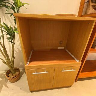 レンジ台 キッチン収納 収納棚 中古品 組立家具 ナチュラル