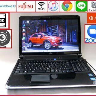 富士通 メモリ4GB 新品SSD 128GB ノートパソコン/w...