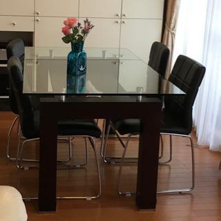 【終了】ダイニングテーブル シンプルモダン ガラス