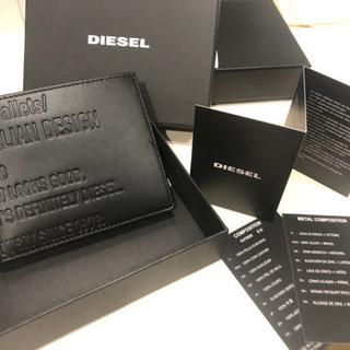 DIESEL  黒 折り畳み財布