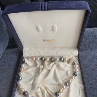 真珠ネックレスシルバートップ 箱付き