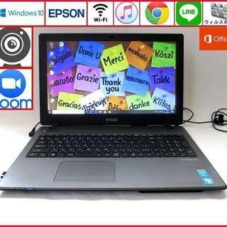 EPSON メモリ4GB HDD320GB ノートパソコン/wi...