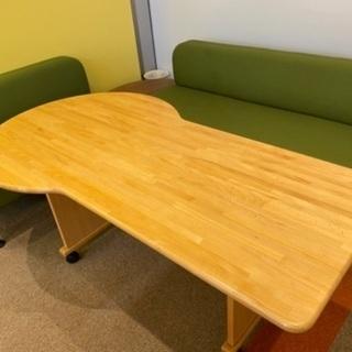 テーブル 木目
