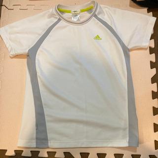 【ネット決済・配送可】adidas Tシャツ M 白×グレー