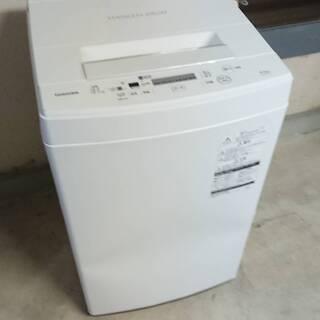 【美品・使用少】東芝 4.5㎏ AW-45M7-W 全自動洗濯機...