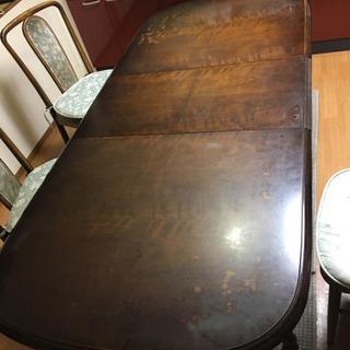 伸縮可能ダイニングテーブル+椅子4脚