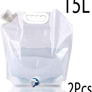【新品】【2個セット】ウォータータンク 折りたたみ水袋 給水バッ...