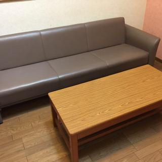 三人掛けできる事務用家具メーカーのソファーベッド