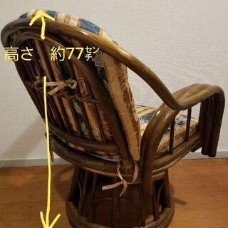 藤の回転椅子 - 家具