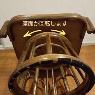 藤の回転椅子 - 売ります・あげます