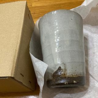 栃木県益子焼き、職人が手作りカップ