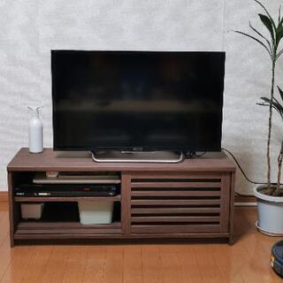 【収納付き】テレビ台 ニトリ ダークブラウン