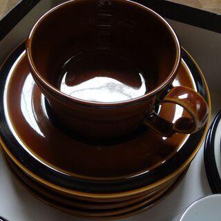 コーヒーカップ2 ソーサー5 コーヒー皿5 湯呑み4 セット