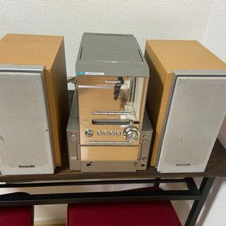 Panasonic CD MD カセットテープ ミニコンポ