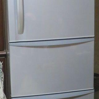 東芝冷蔵庫 339L 3ドア 2008年 GR-34ND(シルバー)