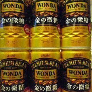 缶コーヒー Asahi WONDA 金の微糖 6本
