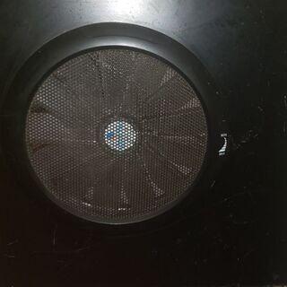 ●25cmサイドファン搭載パソコンケース 黒 無料