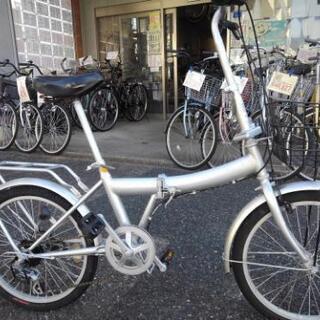 中古自転車1150 折り畳み 20インチ 6段ギヤワイヤー錠 ラ...