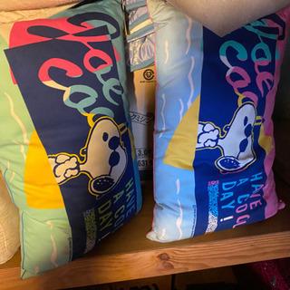 スヌーピーの枕 クッション 未使用 値札付き