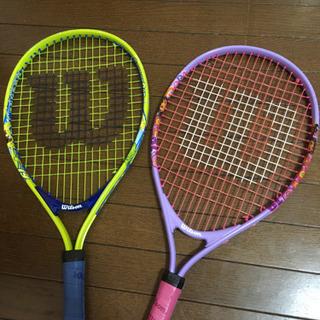 【中古】子供・幼児用(3-4歳)テニスラケット2本セット