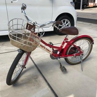 【ネット決済】子供用自転車 18インチ アサヒサイクル 赤色 補...