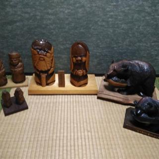 木製北海道産置物セット
