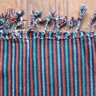 値下げ!カンボジアの伝統的手織り布 クロマー 民族衣装