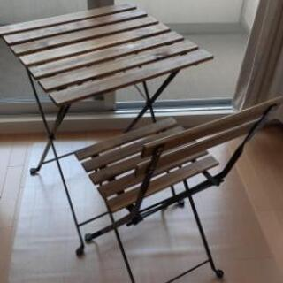 【ネット決済】IKEA 屋外用折り畳みテーブル&チェア