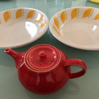idee 未使用ティーポット、とアンティーク皿