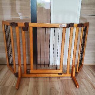 ペット用木製おくだけドア付きゲート(リッチェル)