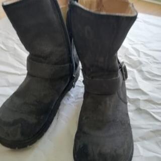 子ども用 黒ブーツ 18cm