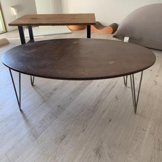 折り畳みテーブル  ダークブラウン