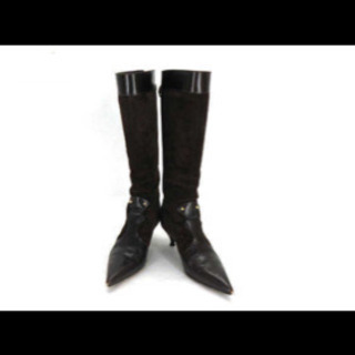 【美品】☆フェンディ スエード ロング ブーツ サイズ35