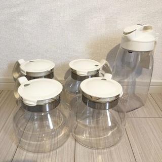 調理器具5個セット(ガラスポット+ウォーターボトル)