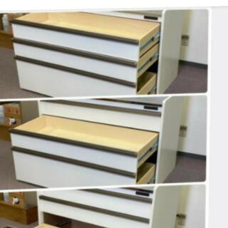 ステンレストップカウンターキッチン キャビネットロータイプタイプ高さ 83.5cm×幅119cm - 札幌市