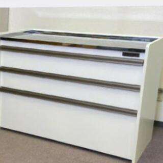 ステンレストップカウンターキッチン キャビネットロータイプタイプ高さ 83.5cm×幅119cmの画像