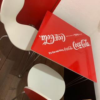 【9月末まで】コカコーラ テーブル・チェア セット