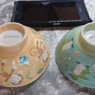 子供向け お茶碗セット ペンギン&お猿