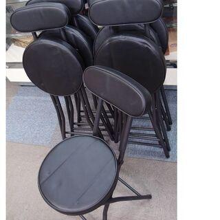 中古 折りたたみ 丸椅子7脚まとめて