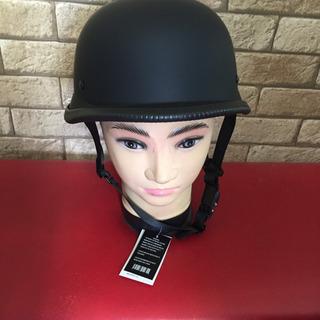 つや消しブラックのジャーマンヘルメットXLサイズ