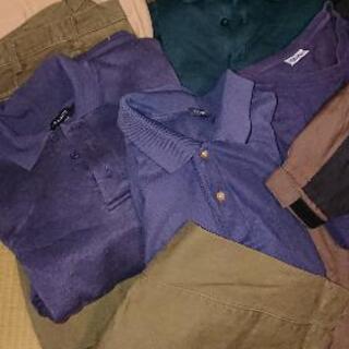 メンズ L サイズ 七点セット ポロシャツ   パンツ ウインド...