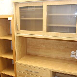 美品 ニトリ 食器棚 キッチンボード (コパン 100KB-LB...