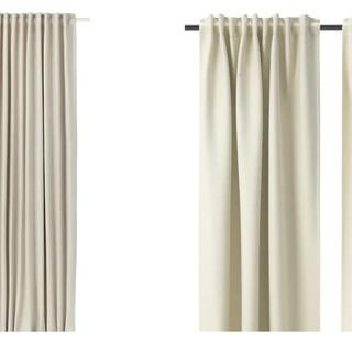 IKEA ヴィルボリ カーテン とニトリ ミラーレースカーテンのセット