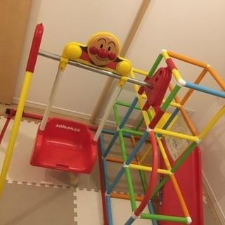 アンパンマン ジャングルジム  滑り台 ブランコ 鉄棒 室内遊具...