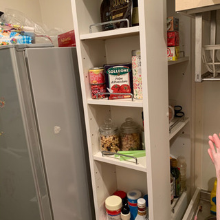 細めのキッチン棚 ホワイト