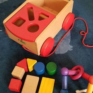 9月末まで!型はめ 車 赤ちゃん おもちゃ 知育玩具 お値下げし...