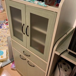 【9/22引き取り希望】キッチン食器棚2台セット