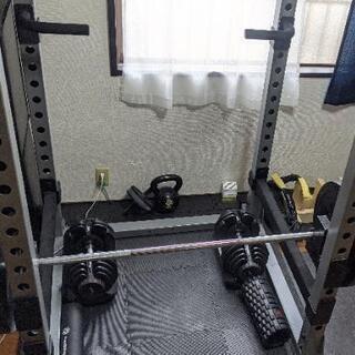 アイロテック パワーラックHPMセット バーベル130kg ベンチ